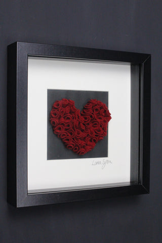 Handmade 3D Red Roses Picture - Second