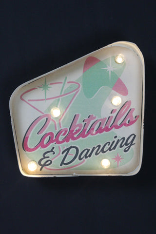Cocktails And Dancing LED Sign