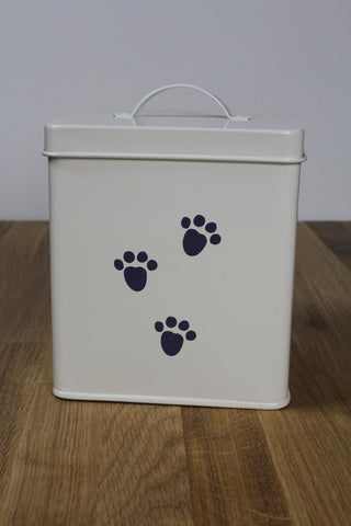 Bloomingville Cute Paw Print Pet Food Storage Container