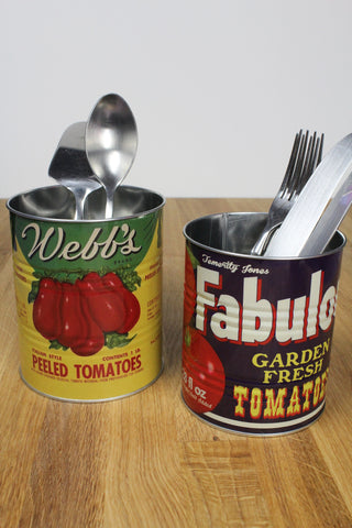 Retro Tomato Storage Tins - Set Of 2
