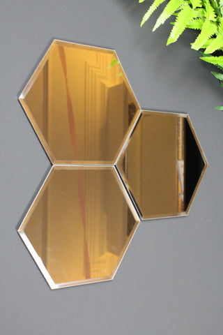 Hexagonal Wall Mirrors - second