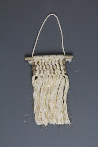 Mini Macrame Wall Hanging - Cream