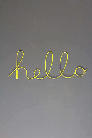 Hello Wire Word Wall Sign