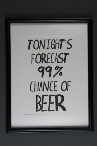 Forecast Beer Print - A4