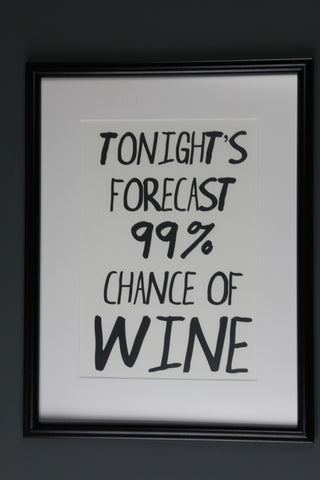 Forecast Wine Print - 2 Sizes Available