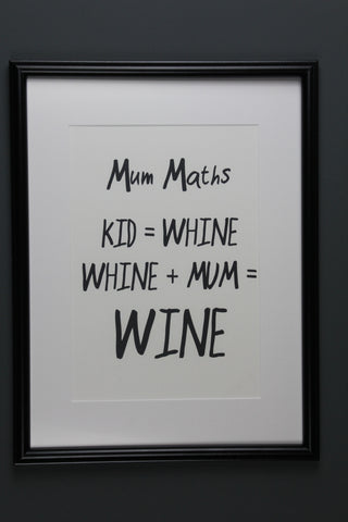 Mums Maths Print- 2 Sizes Available