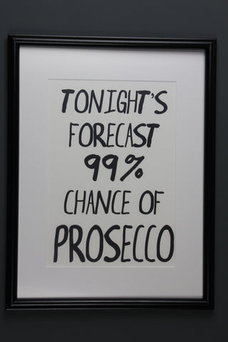 Forecast Prosecco Print - 2 Sizes Available