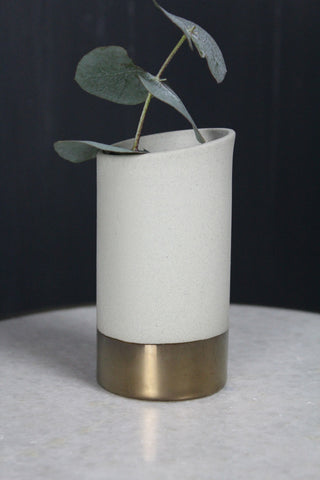 Jena Pipe Vase With Copper Band