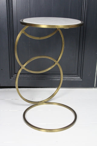 Marble Brass Side Table
