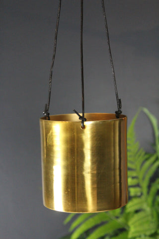 Gold Metallic Hanging Planter