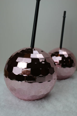 Pink Disco Ball Drinks Cup