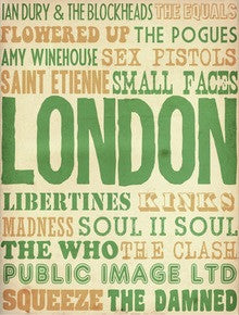 London Bands - A3