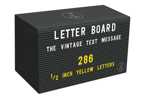 Yellow Letter Set For Letter Board