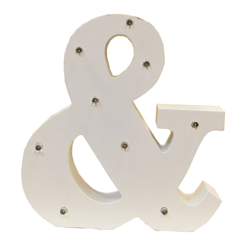 White Letter LED Light