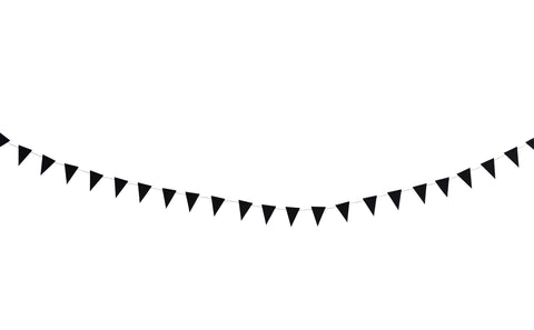 Charcoal Flag Garland - 3m