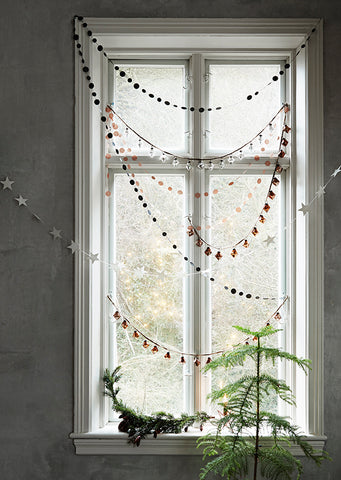 Charcoal Merry Christmas Garland - 3m