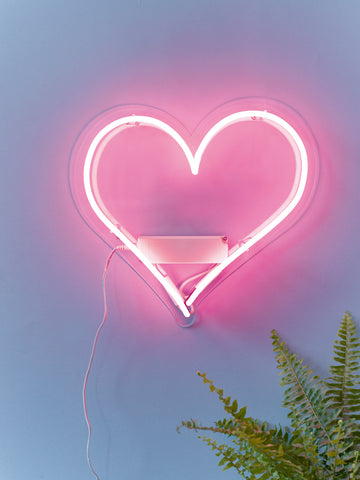 Heart Neon Perspex Wall Light