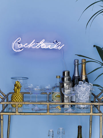 Cocktails Neon Perspex Wall Light