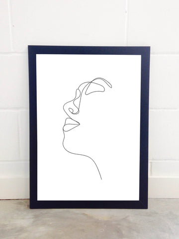 Portrait Outline Print