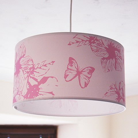 "Butterfly 14"" Ceiling Pendant Shade - Pink"
