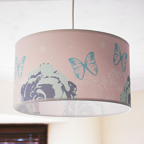"Uk  Handmade Butterfly 14"" Ceiling Pendant Shade - 2 Colours"