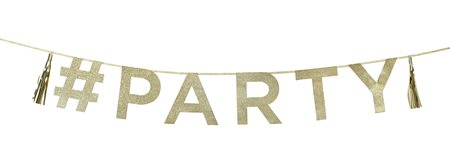 Gold Glitter Party Banner -2m