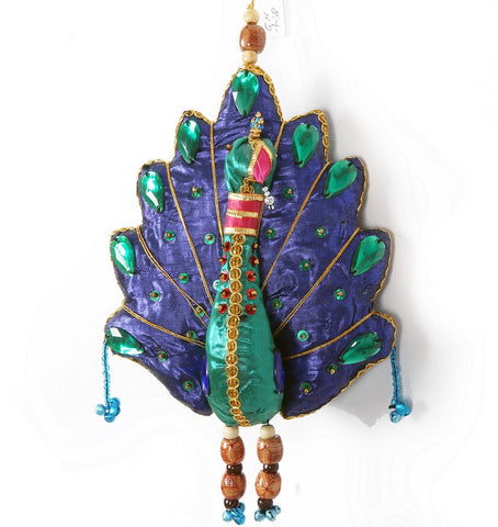 Jewelled Small Hanging Peacock