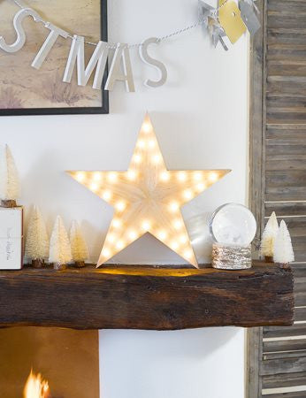 Wooden LED Star