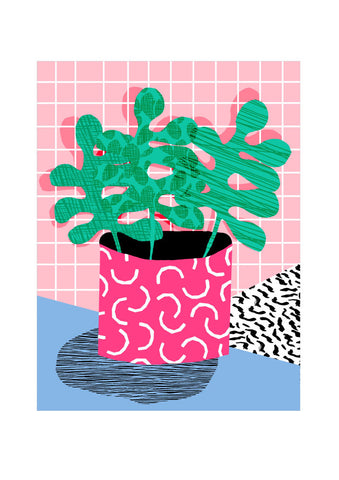 Neon House Plant - A3