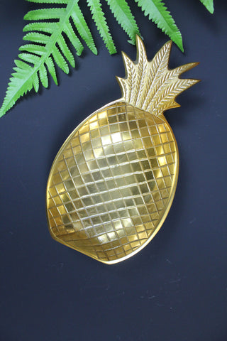 Brass Pineapple Dish - 2 Sizes Available