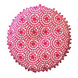 Fuschia Round Cushion -1 left