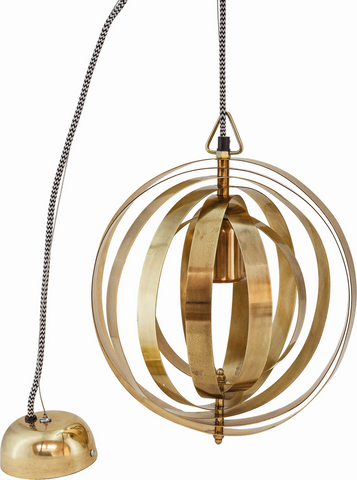 Circle Brass Pendant Light