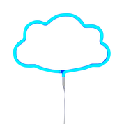 LED Blue Cloud Neon Wall Light