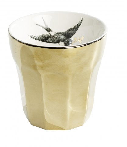 Vintage Style Gold Bird Cup