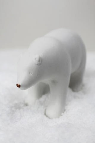 Ceramic polar bear standing christmas decoration
