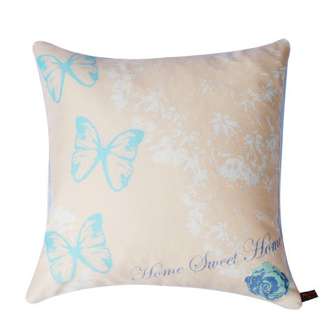 Butterfly Cushion - Blue