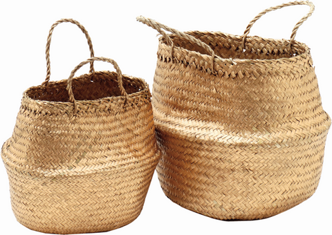 Gold Storage Baskets - 2 Sizes Available