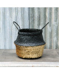 Black and gold storage basket - 2 sizes