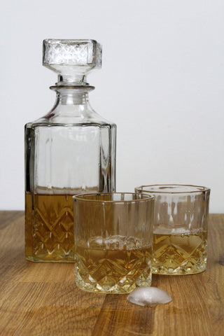 Cut Glass Drinks Tumblers - Set Of 4