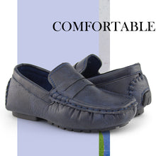 Load image into Gallery viewer, Hawkwell Kids Casual Penny Loafer Moccasin Dress Driver Shoes(Toddler/Little Kid)
