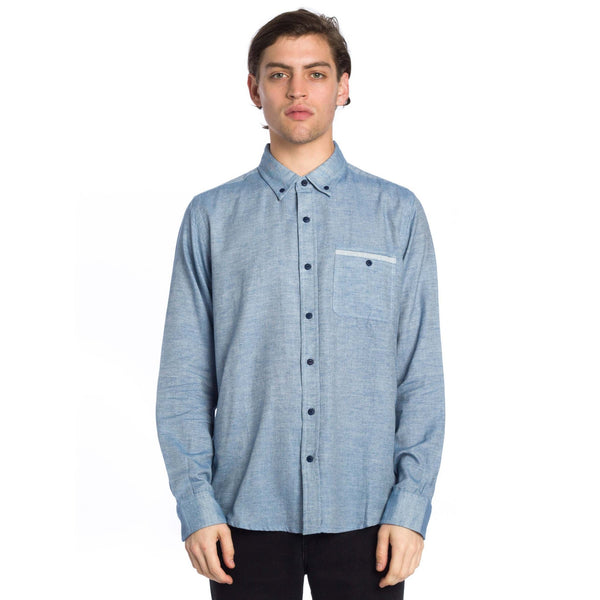 East End Long Sleeve Shirt - Blue - Ezekiel Clothing