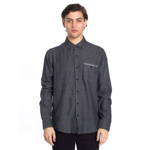 East End Long Sleeve Shirt - Black - Ezekiel Clothing