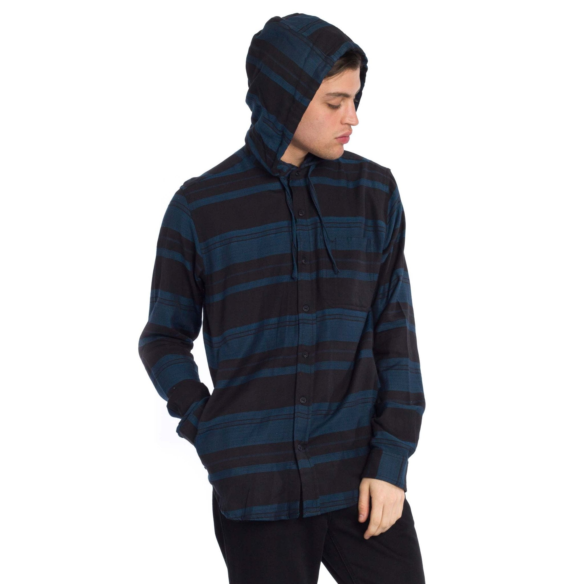 Kruze Hooded Shirt - Navy