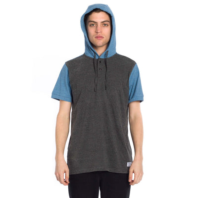 Hyland Hooded Knit - Heather Charcoal