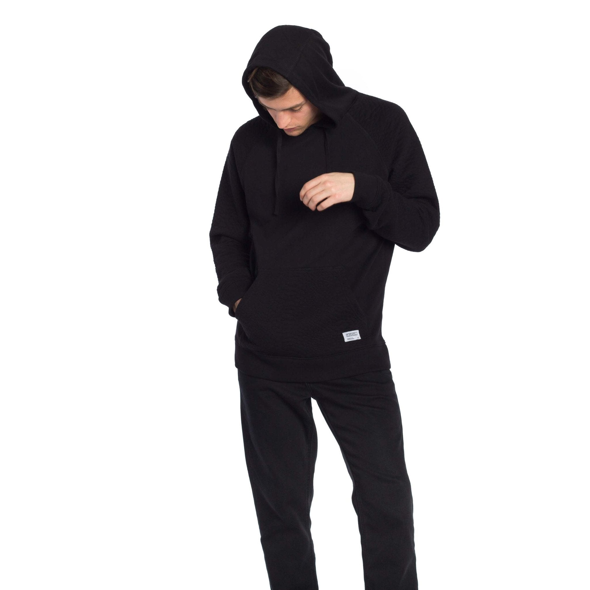 Kobra Hooded Pullover - Black