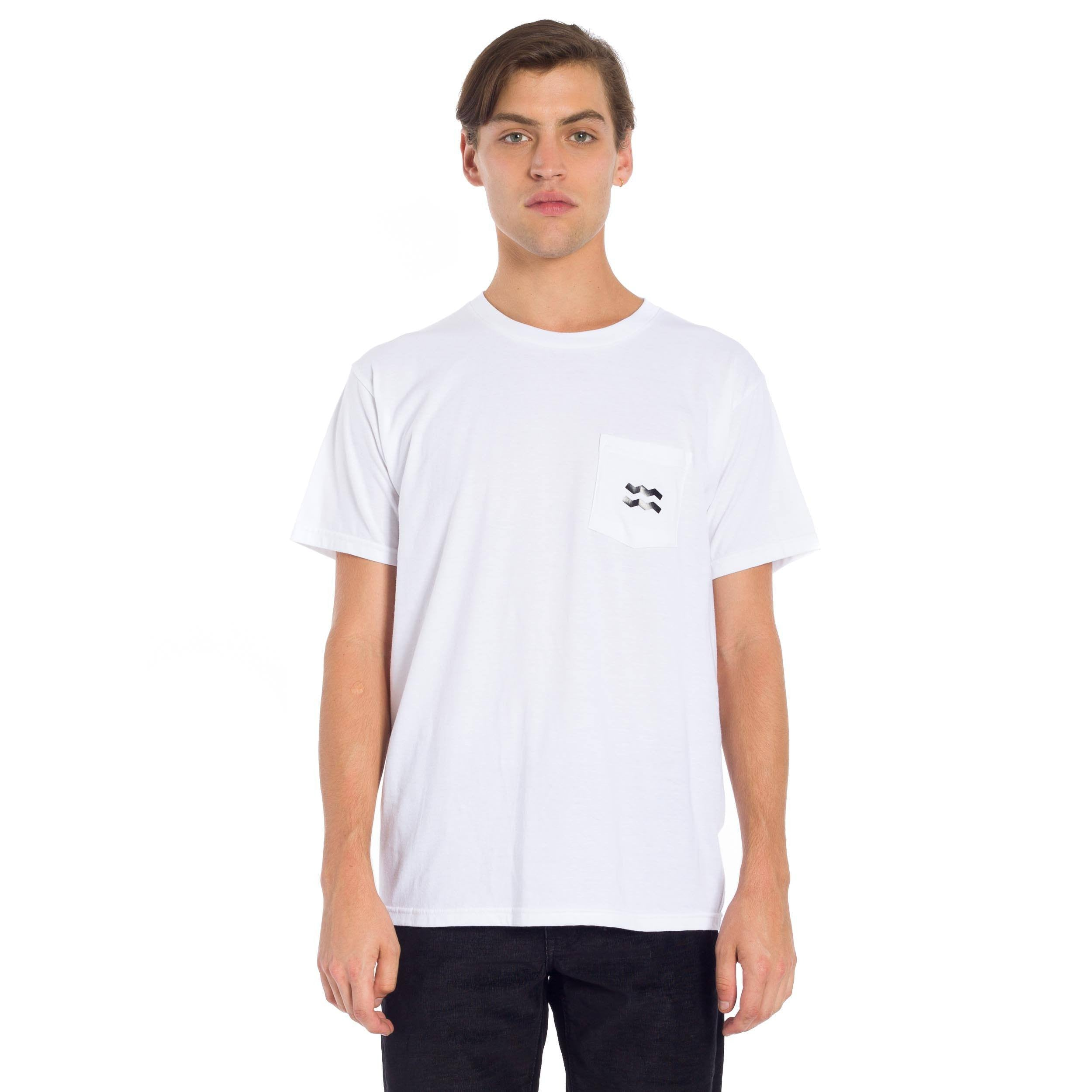 French Floral Pocket T-Shirt - White