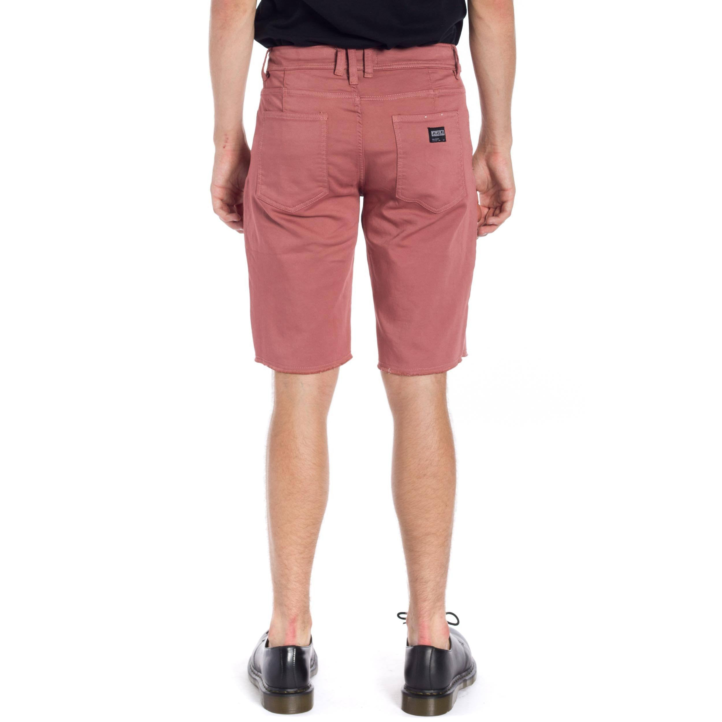 Now Denim Short - Dark Rose