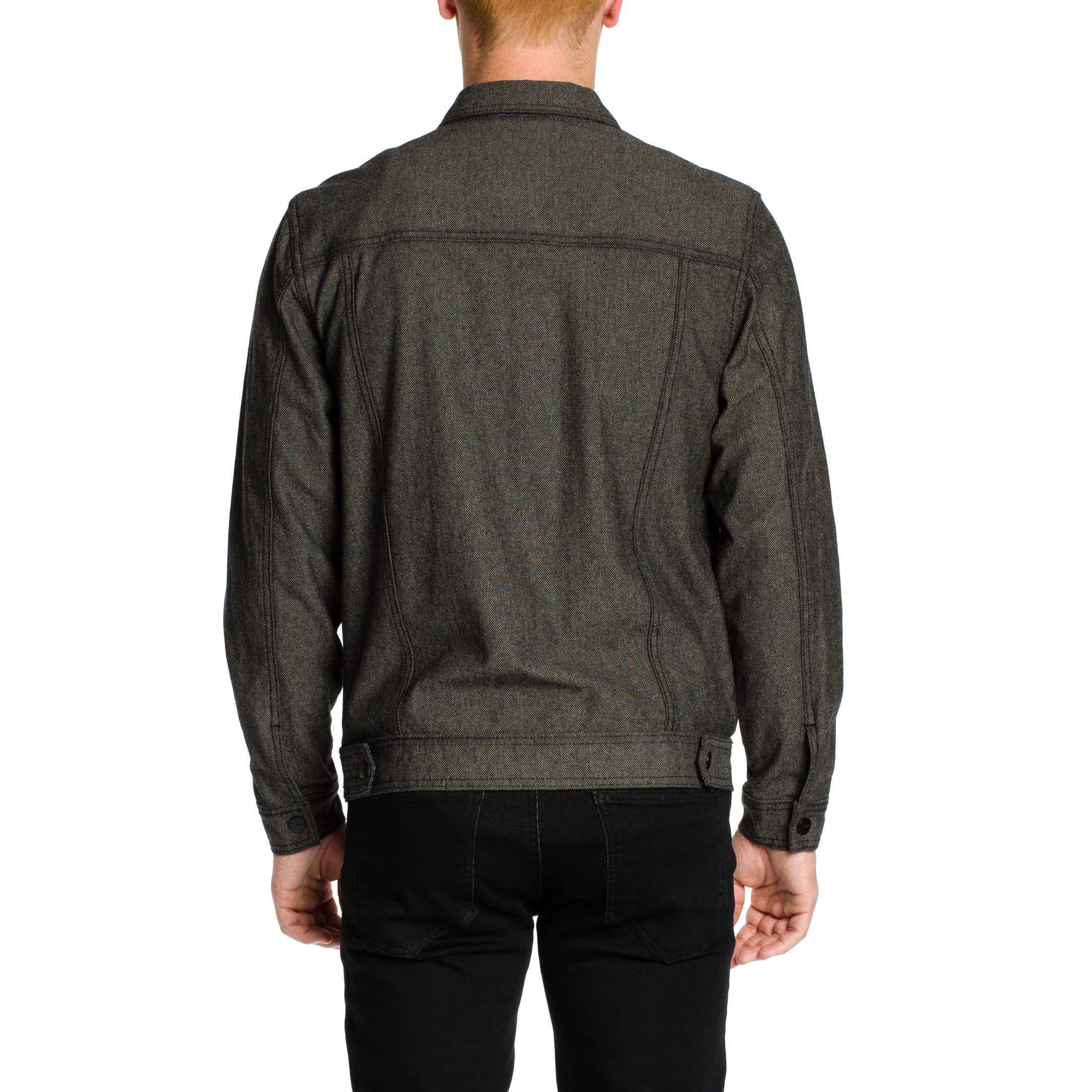 Now Denim Herringbone Jacket - Black - Ezekiel Clothing