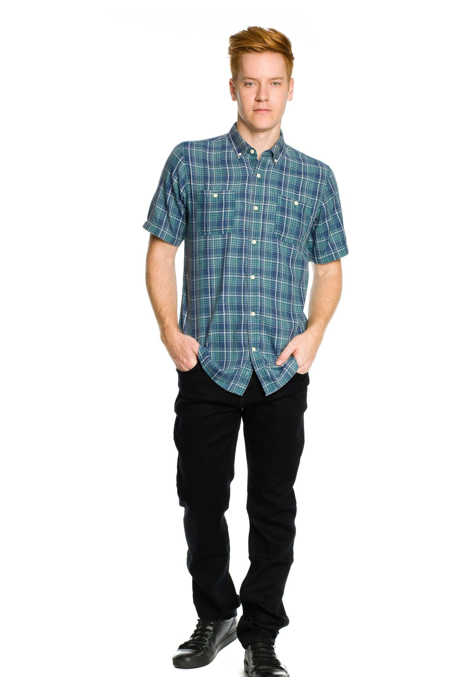 Greenwich Short Sleeve Shirt - Dusty Jade - Ezekiel Clothing