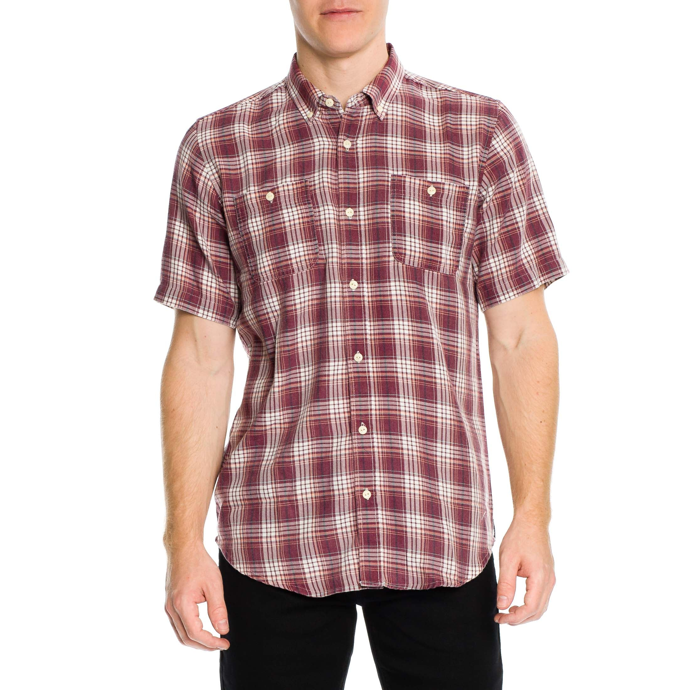 Greenwich Short Sleeve Shirt - Merlot - Ezekiel Clothing